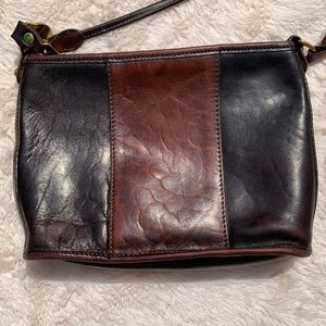 Brahmin Bags - Brahmin Black and Brown Leather Crossbody Bag